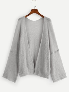 Open Front Solid Cardigan