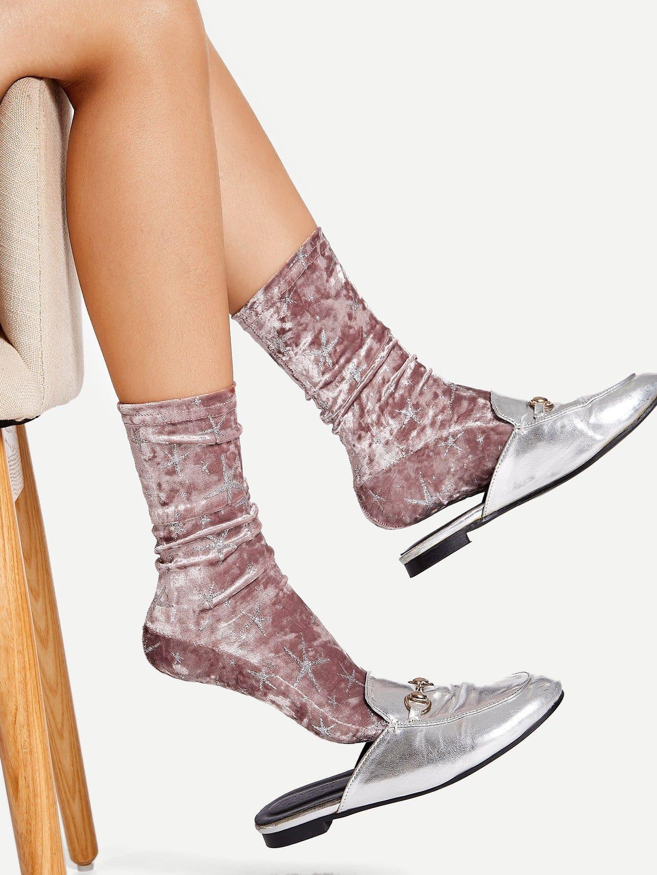 1 пара носки с принтом звезды