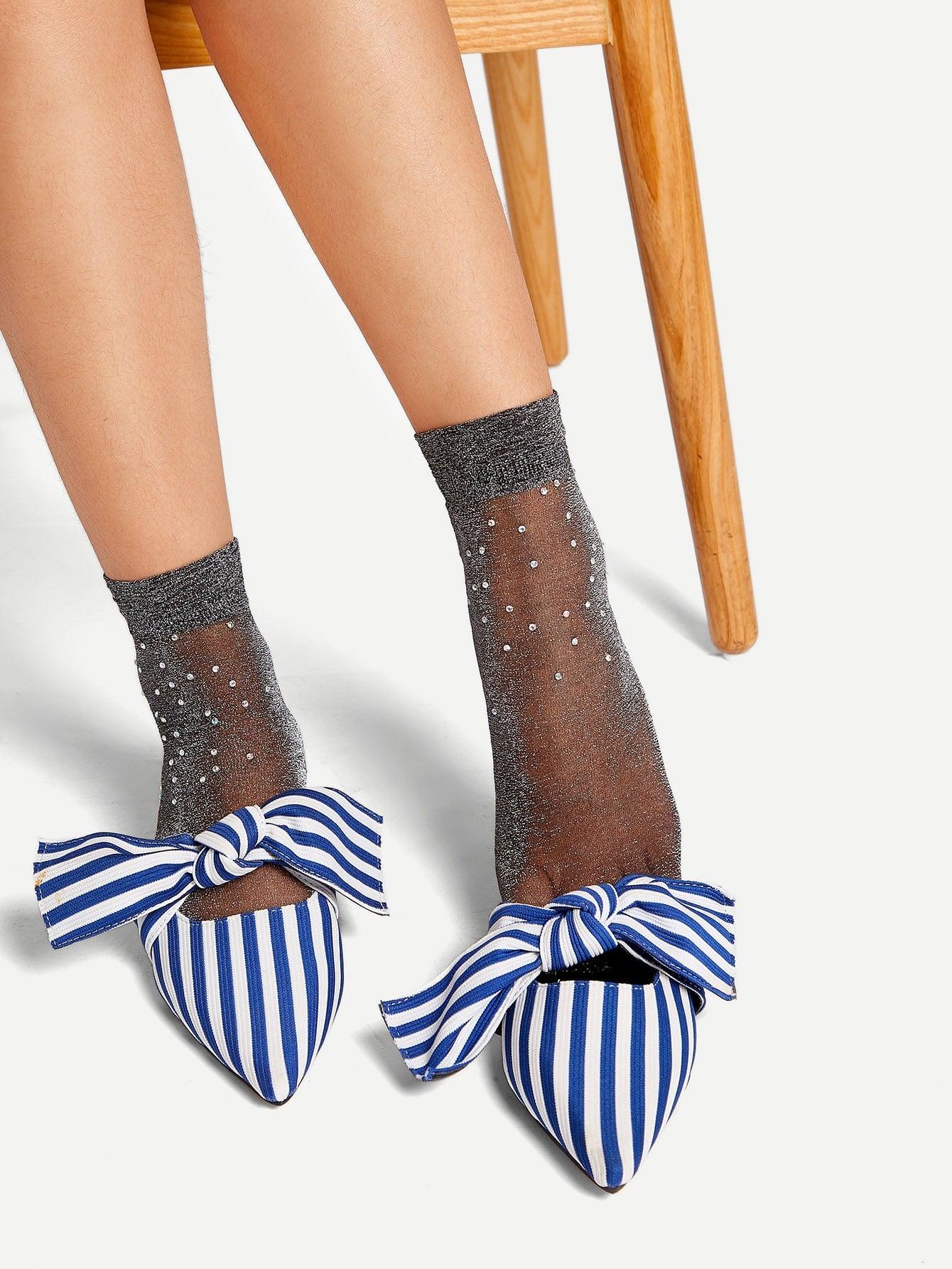 1 пара носки украшенный горный хрусталь
