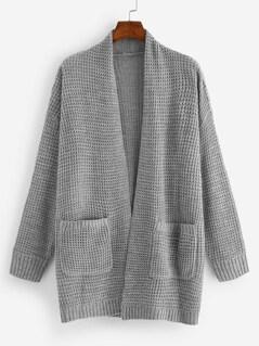 Pocket Front Longline Cardigan