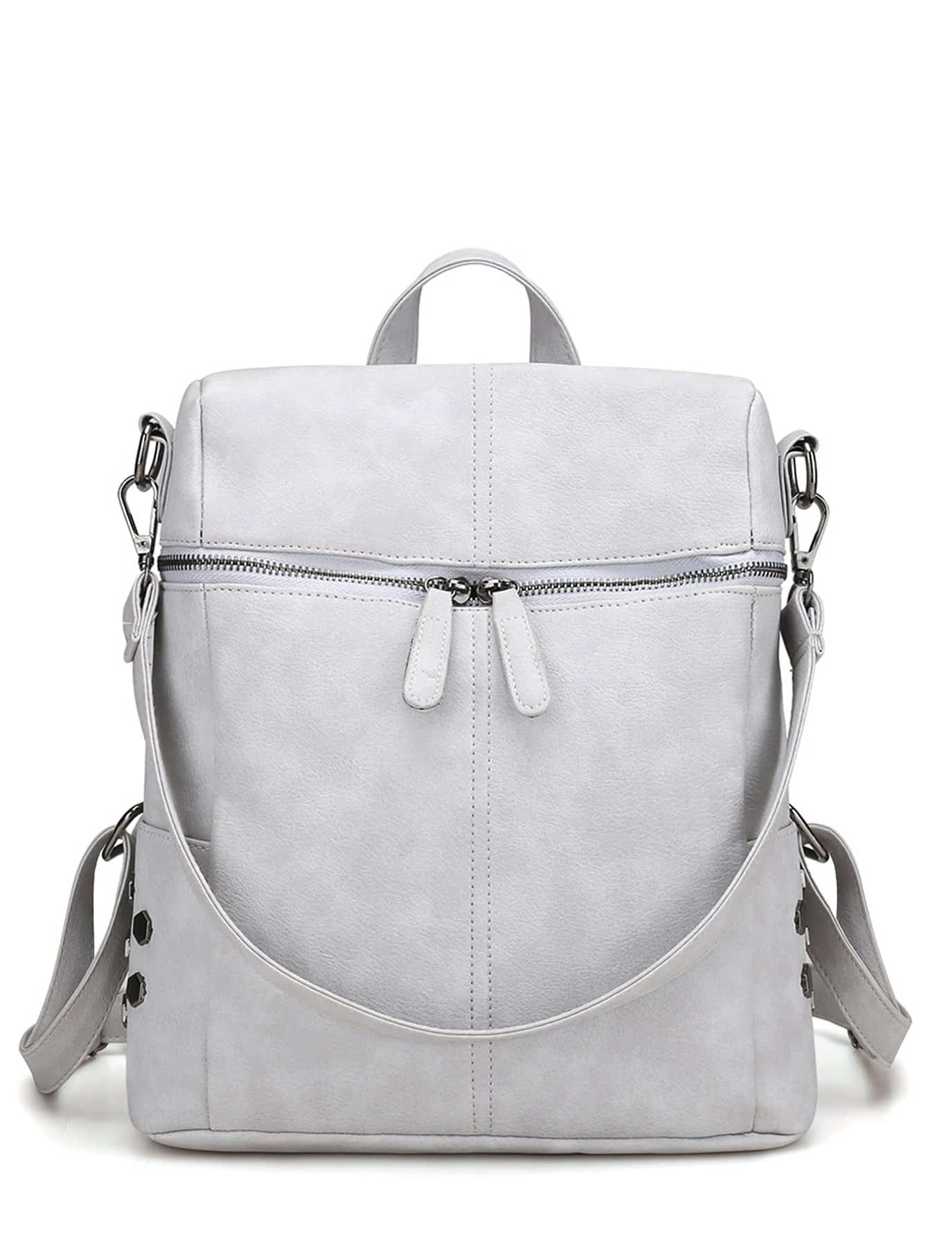 Zipper Front Detail Backpack
