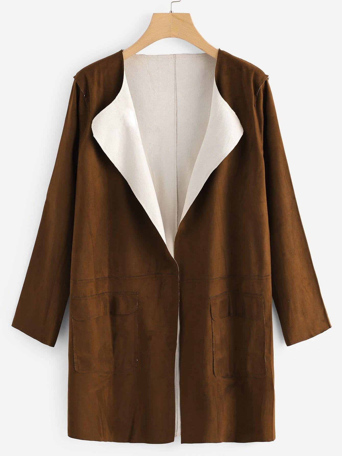 Pocket Decoration Coat