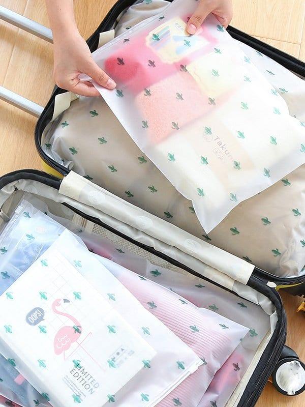 Купить Прозрачная сумка для хранения и с рисунками лозунгов 5 шт., null, SheIn