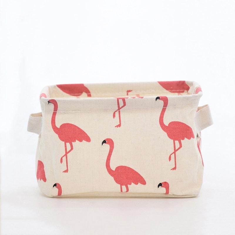 Flamingo print mandje