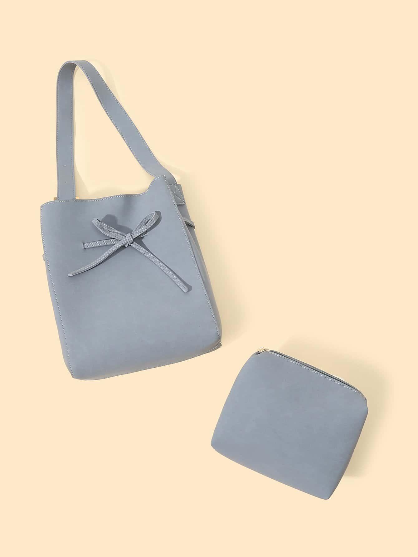 Купить Сумочка с бантом и внутренной сумкой, null, SheIn