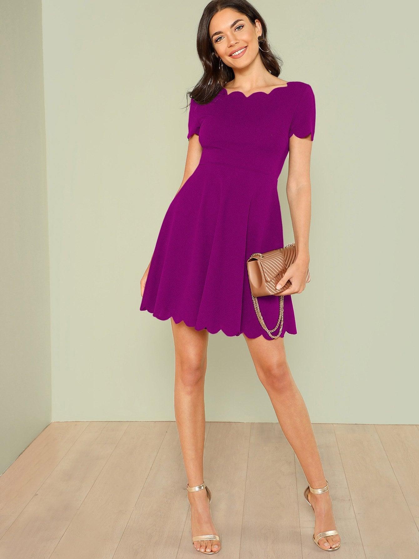 Купить Платье-клёш с веерообразной отделкой, Aarika Wolf, SheIn