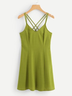 Crisscross Back Cami Dress
