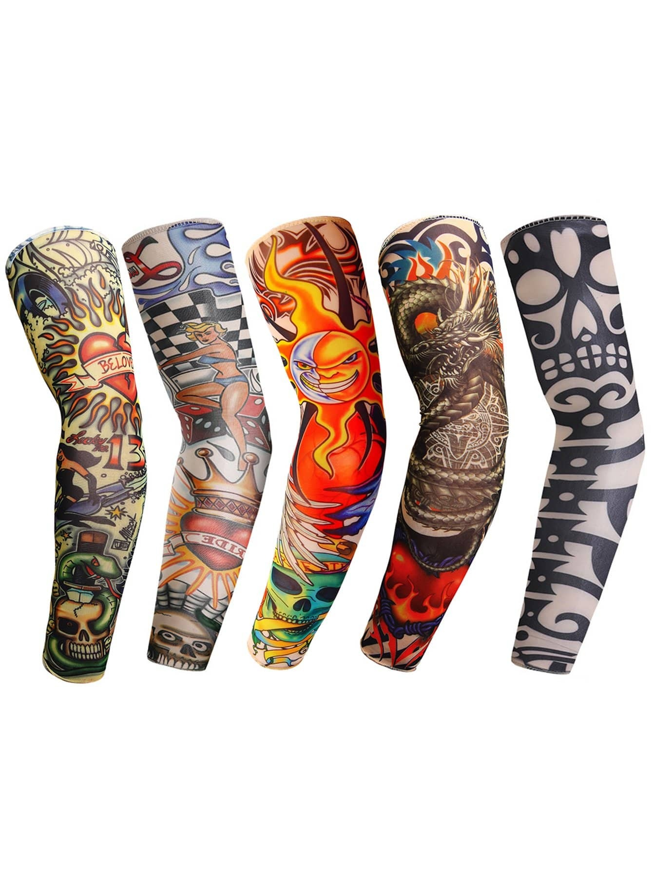 Männer Sonnencreme Arm Tattoo Ärmeln 5PCs