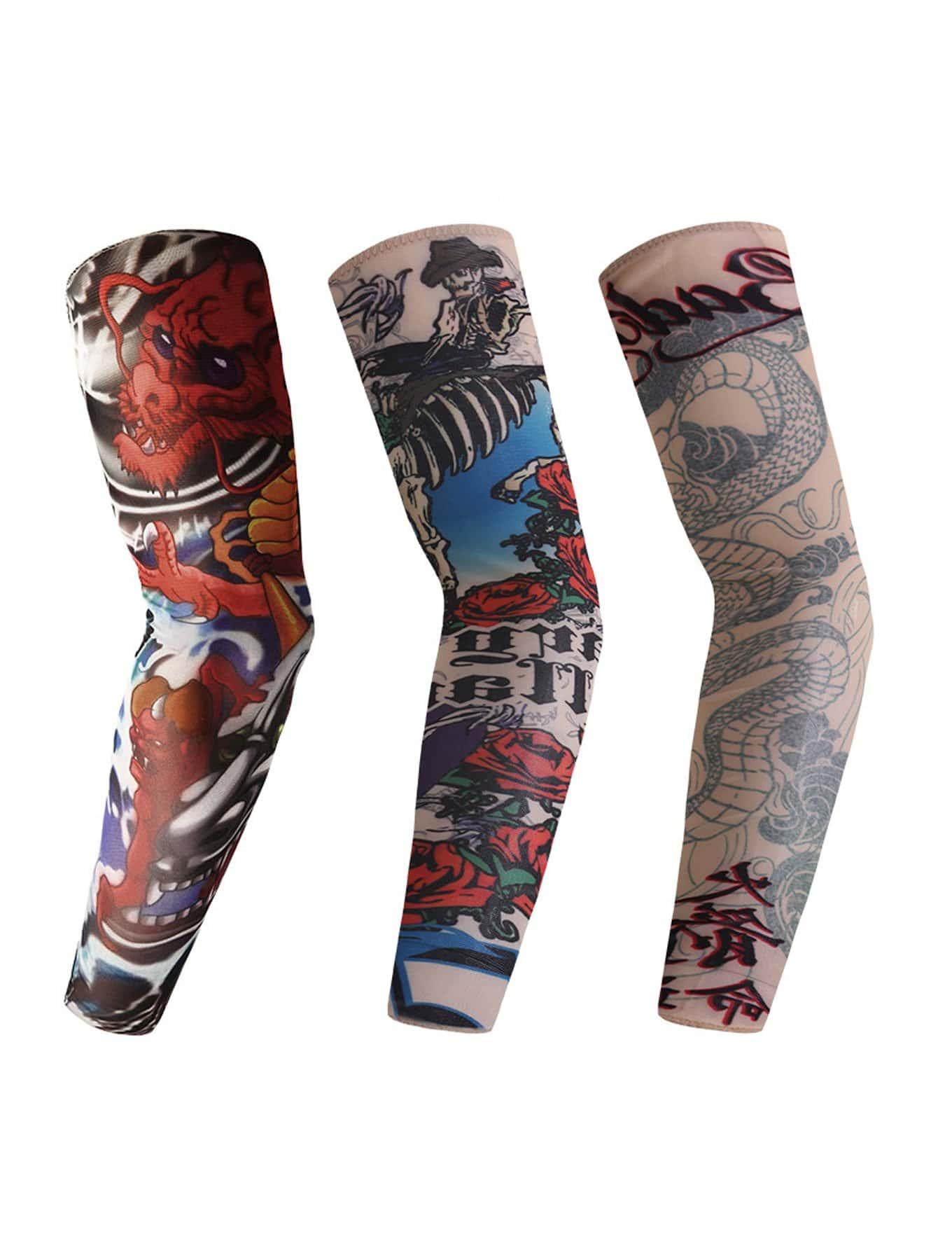 Männer Sonnencreme Arm Tattoo Ärmeln 3PCs