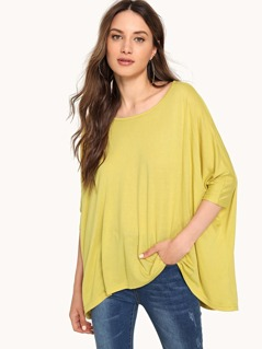 High Low Solid T-shirt
