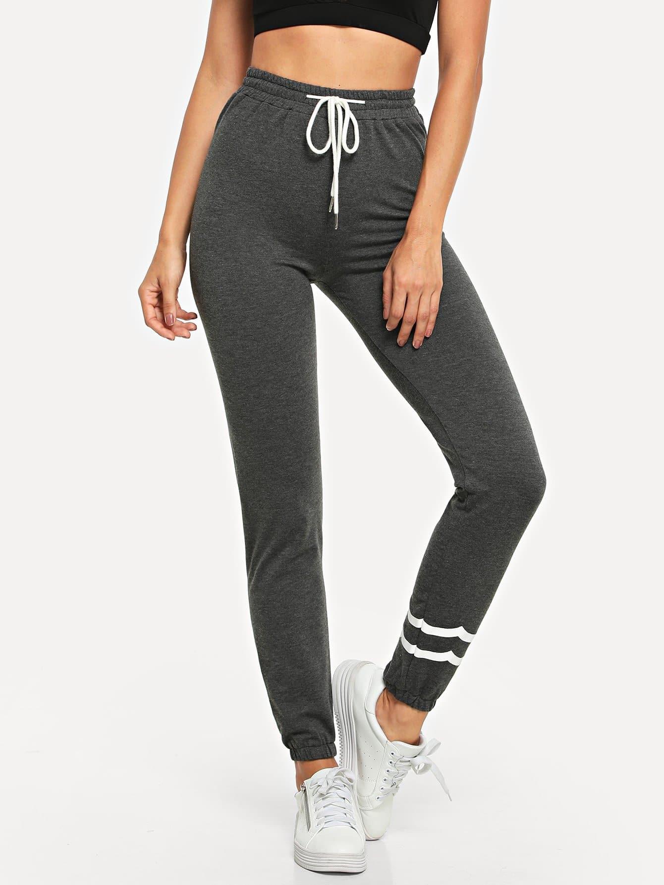 Полосатые брюки с поясом, Jeane, SheIn  - купить со скидкой