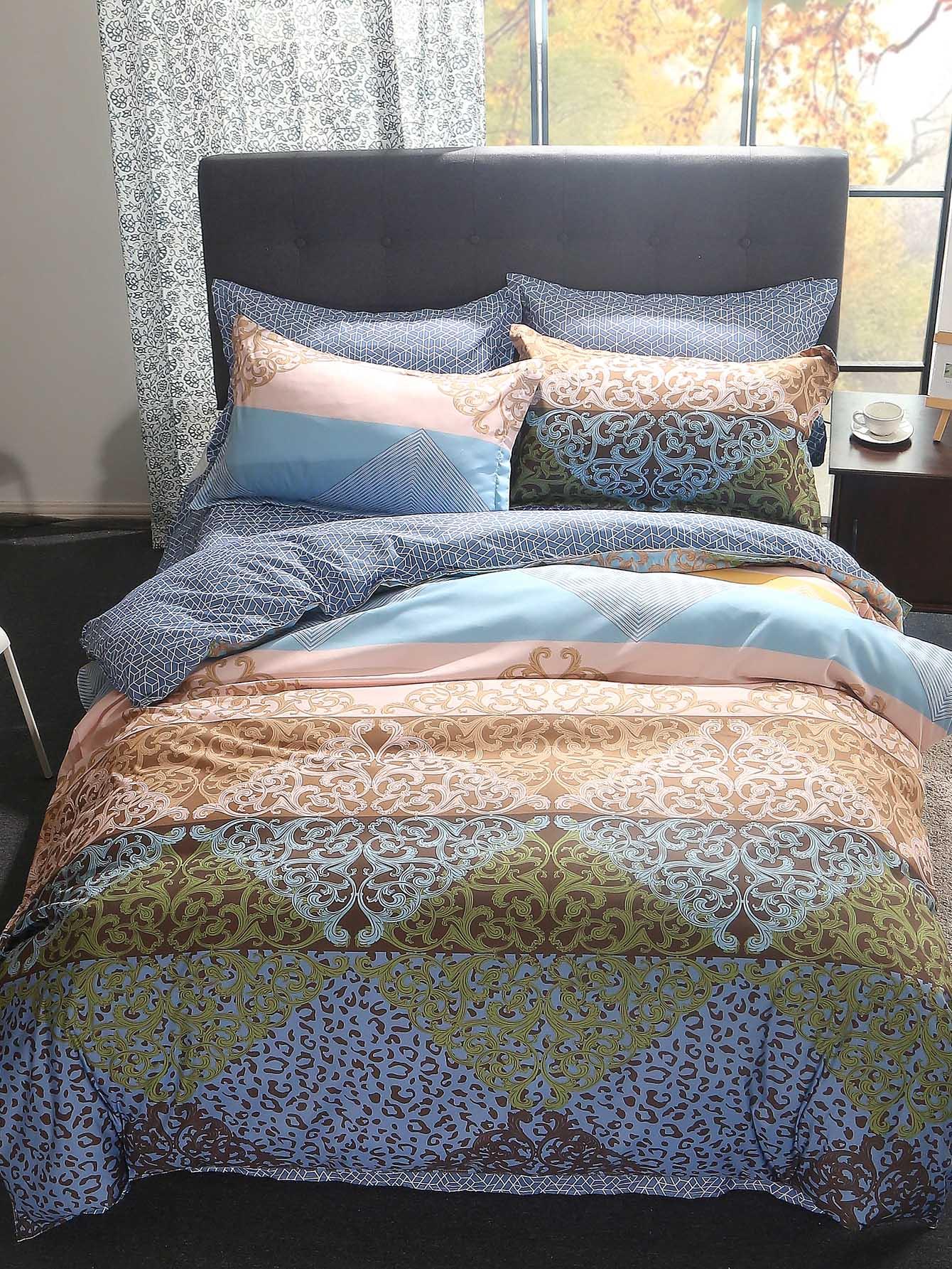 Купить Комплект постельного белья с рисунками Paisley, null, SheIn