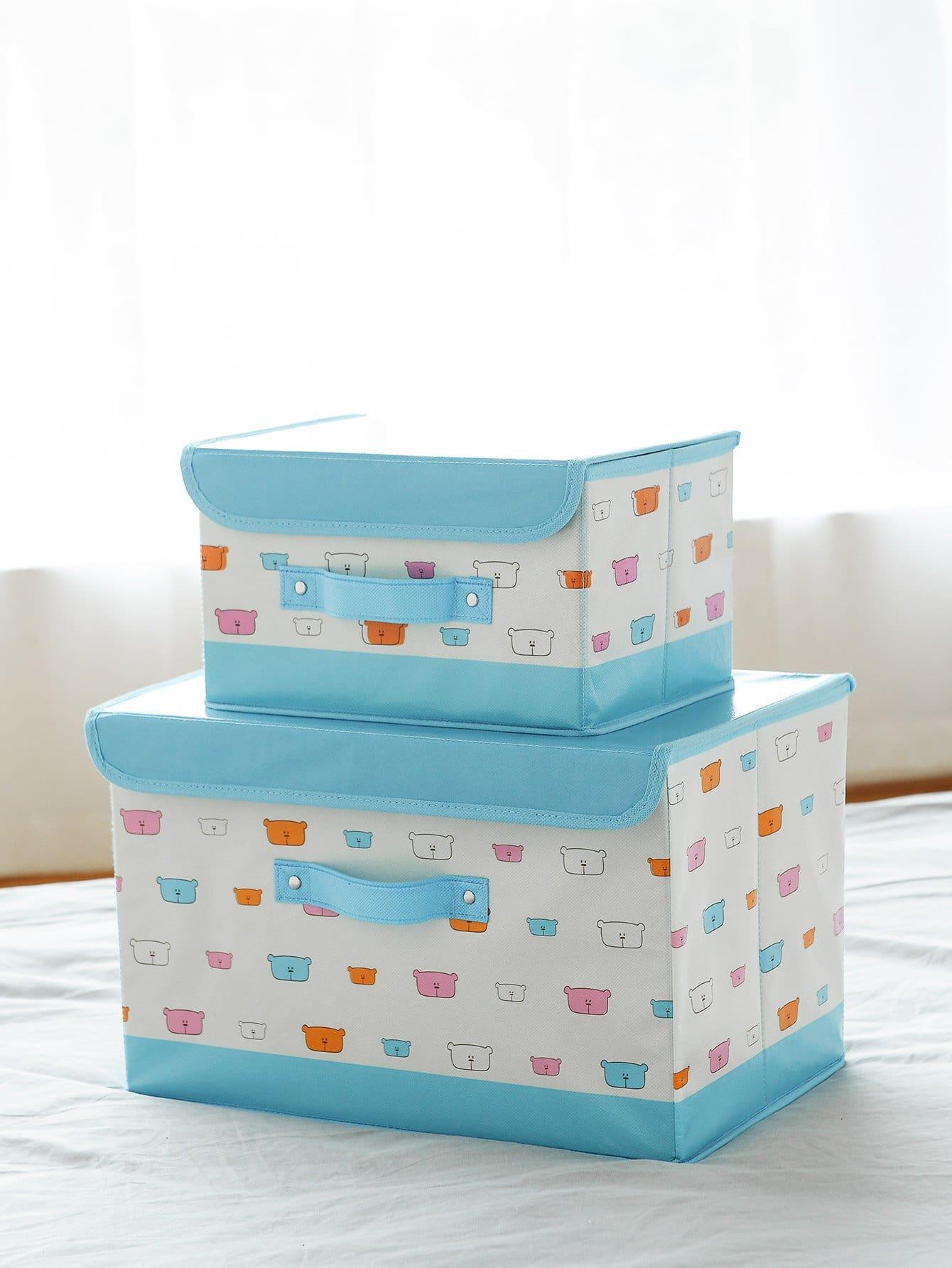 Cartoon Foldable Storage Box 2pcs