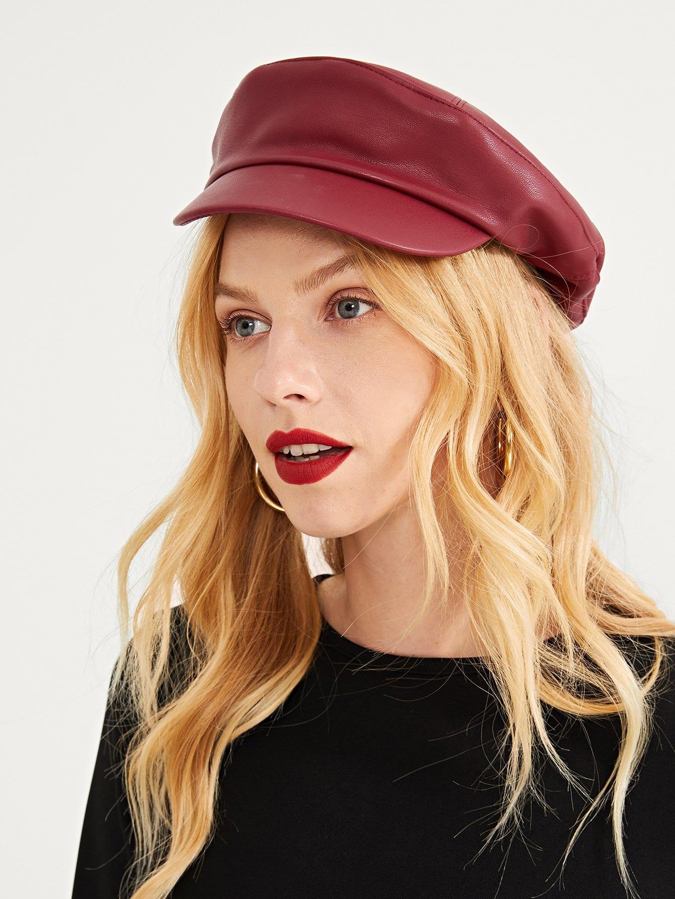 Купить PU простая шляпа Baker для мальчика, null, SheIn