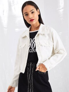 Raw Trim Crop Jacket