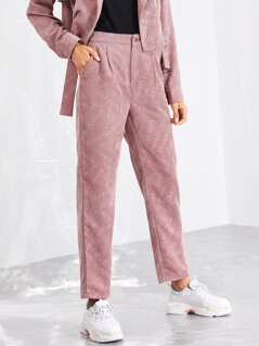 Solid Corduroy Pants