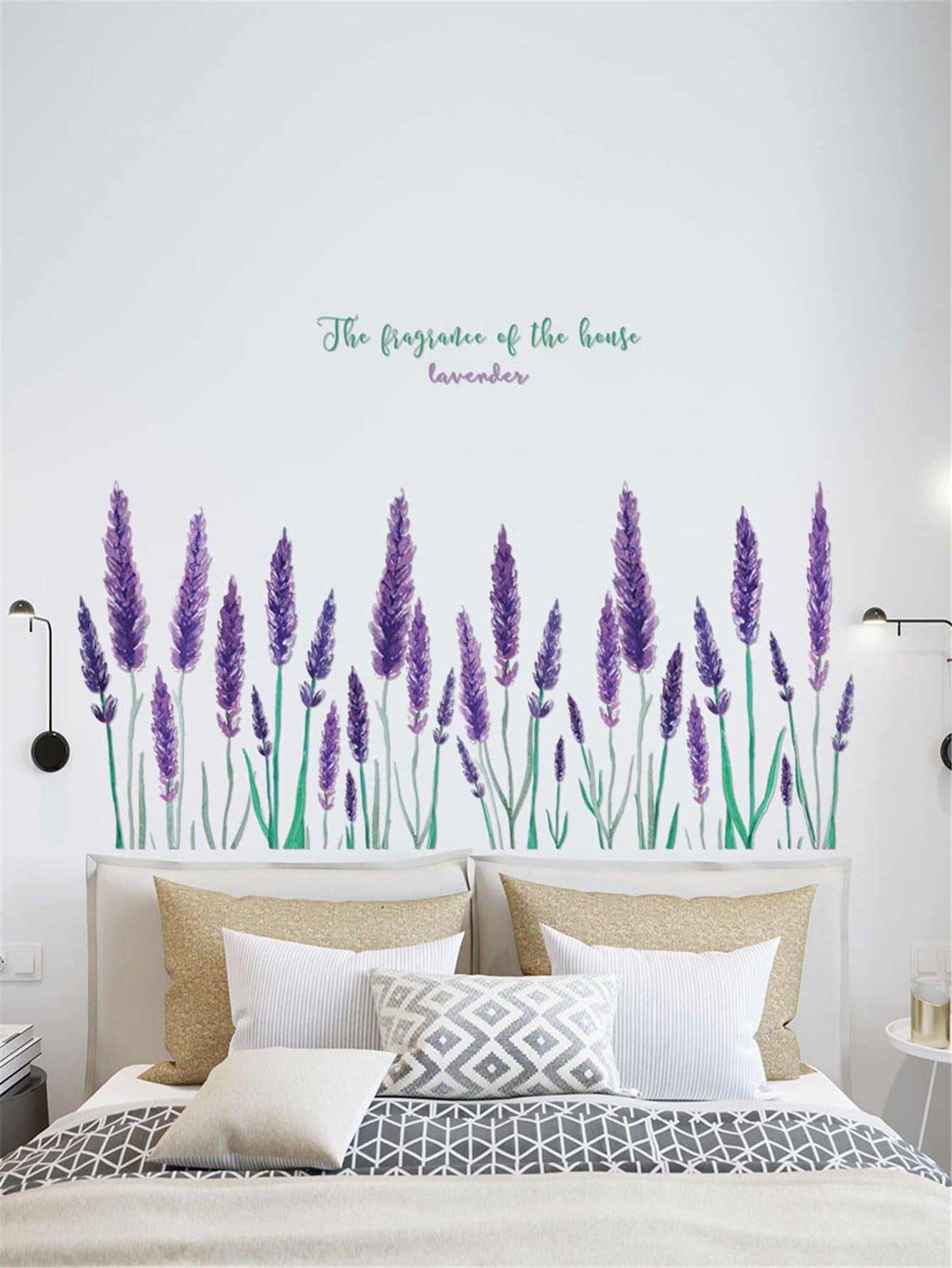 Adesivo da parete con stampa floreale