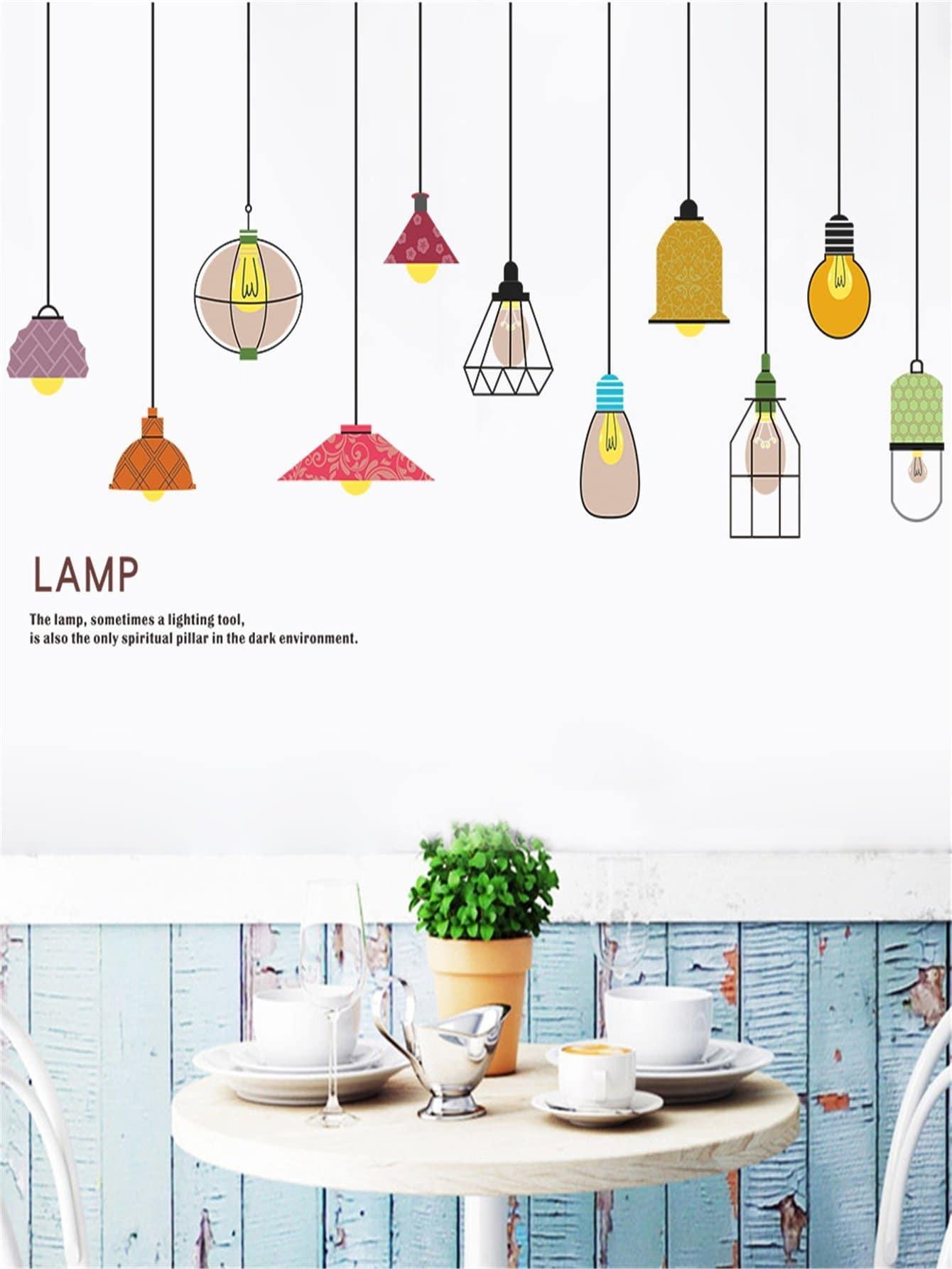 Adesivo da parete con stampa lampada