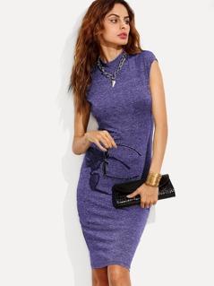 Form Fitting Marled Knit Dress