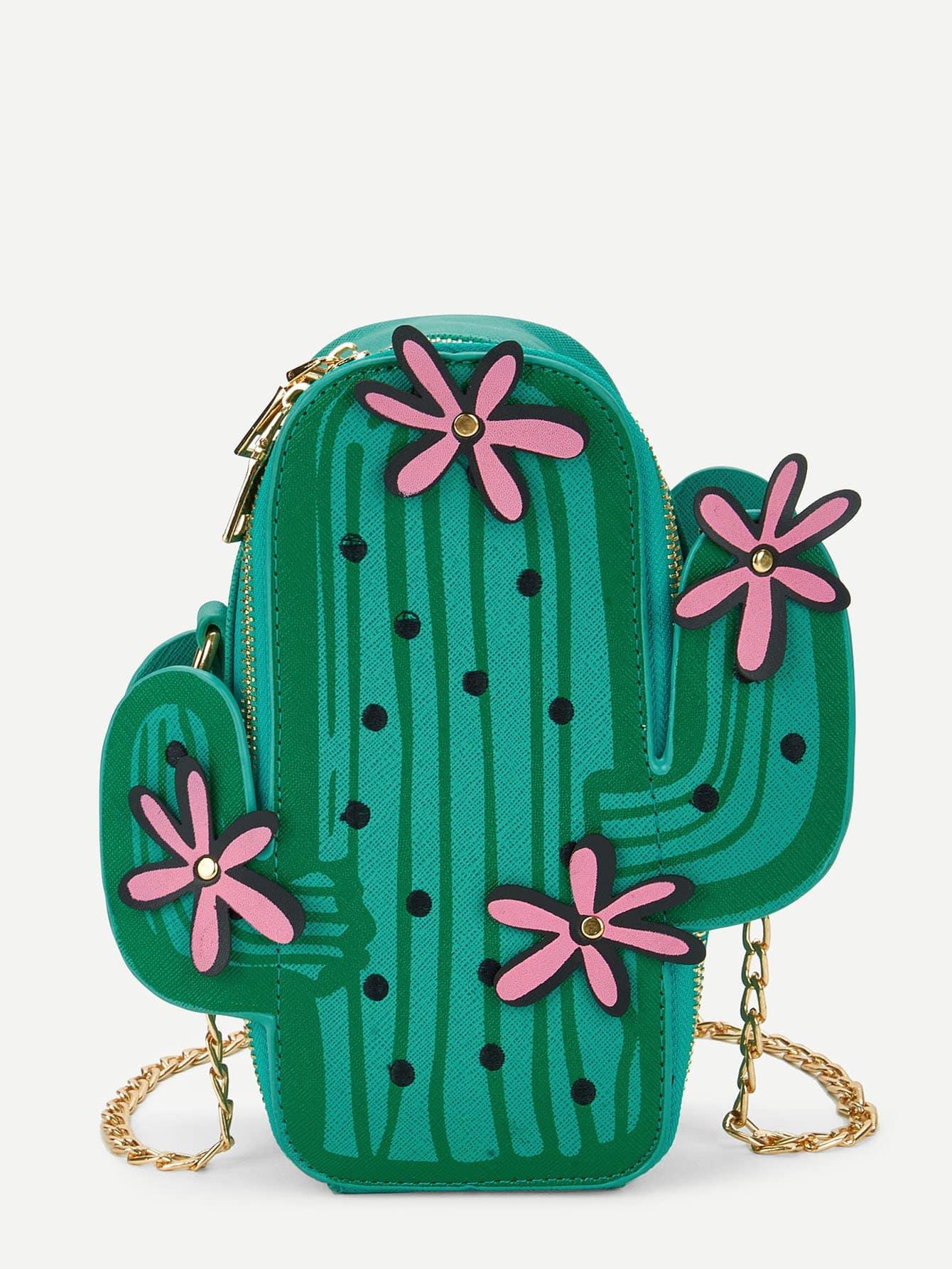 Les Filles De Cactus De La Chaîne De Conception De Sac