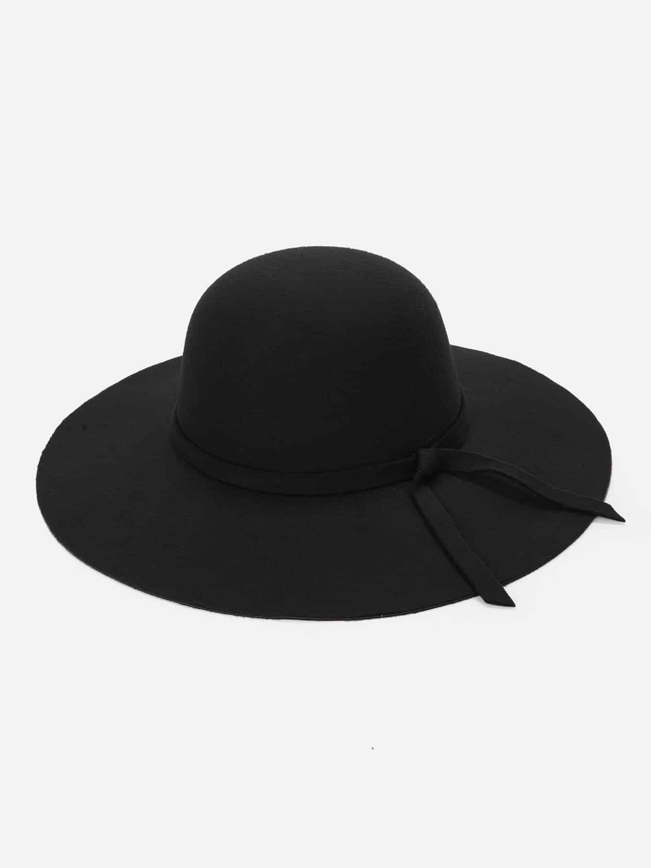 Купить Волосатые Фетр шляпу с широкими полями, null, SheIn