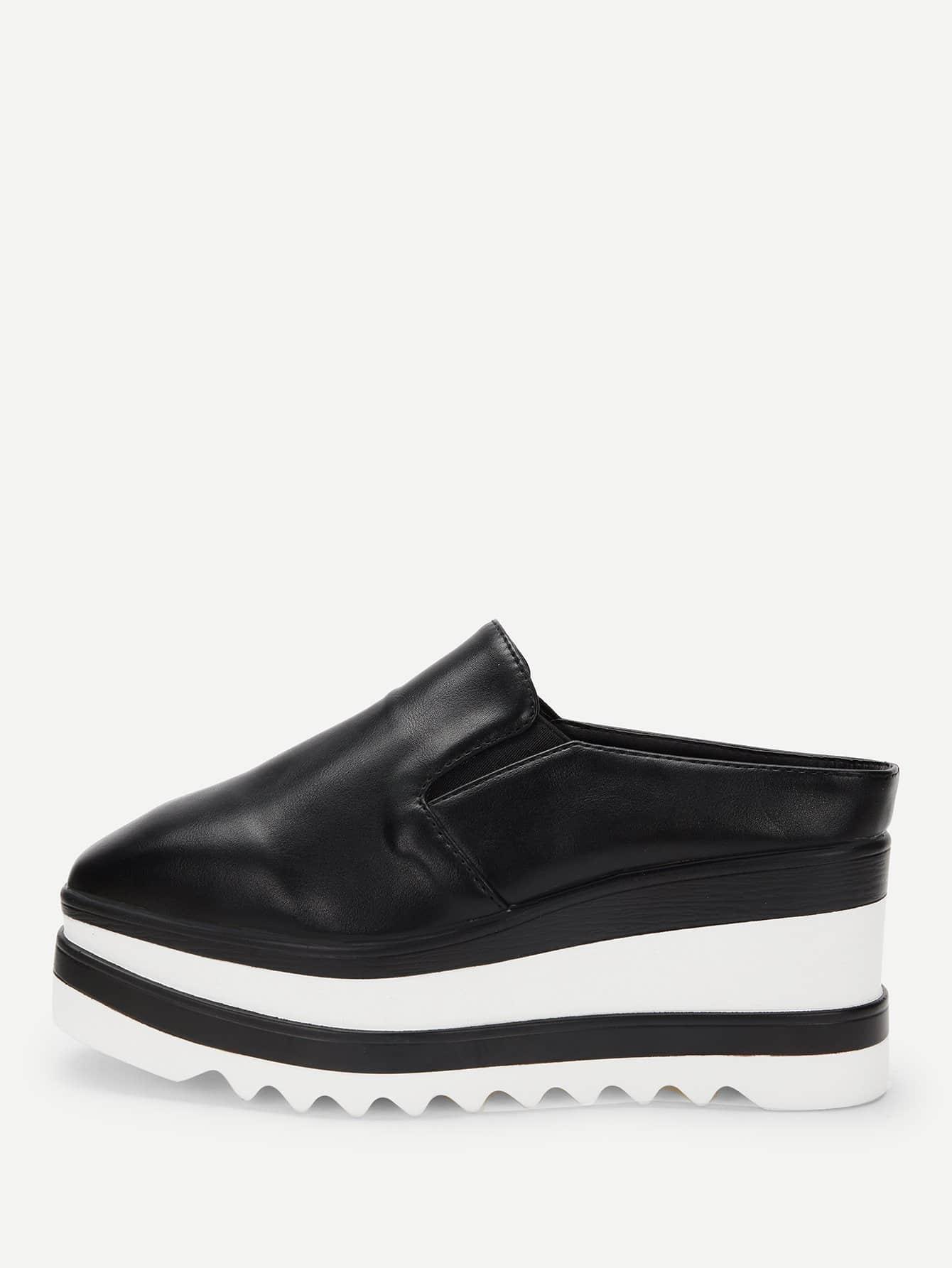 Купить Остроконечные туфли на танкетке, null, SheIn