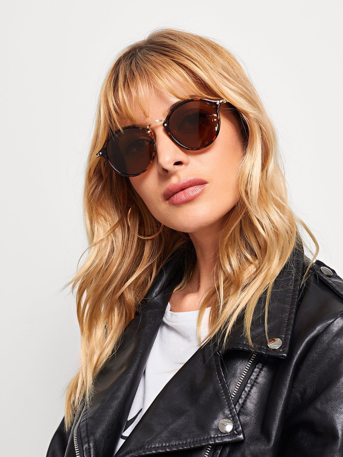 Купить Cолнцезащитные очки с металлической переносицой, null, SheIn