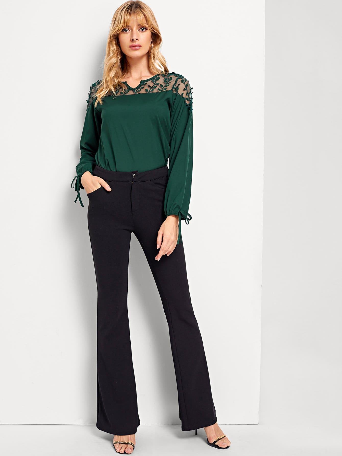Купить Симметрическая сетчатая простая блуза, Masha, SheIn