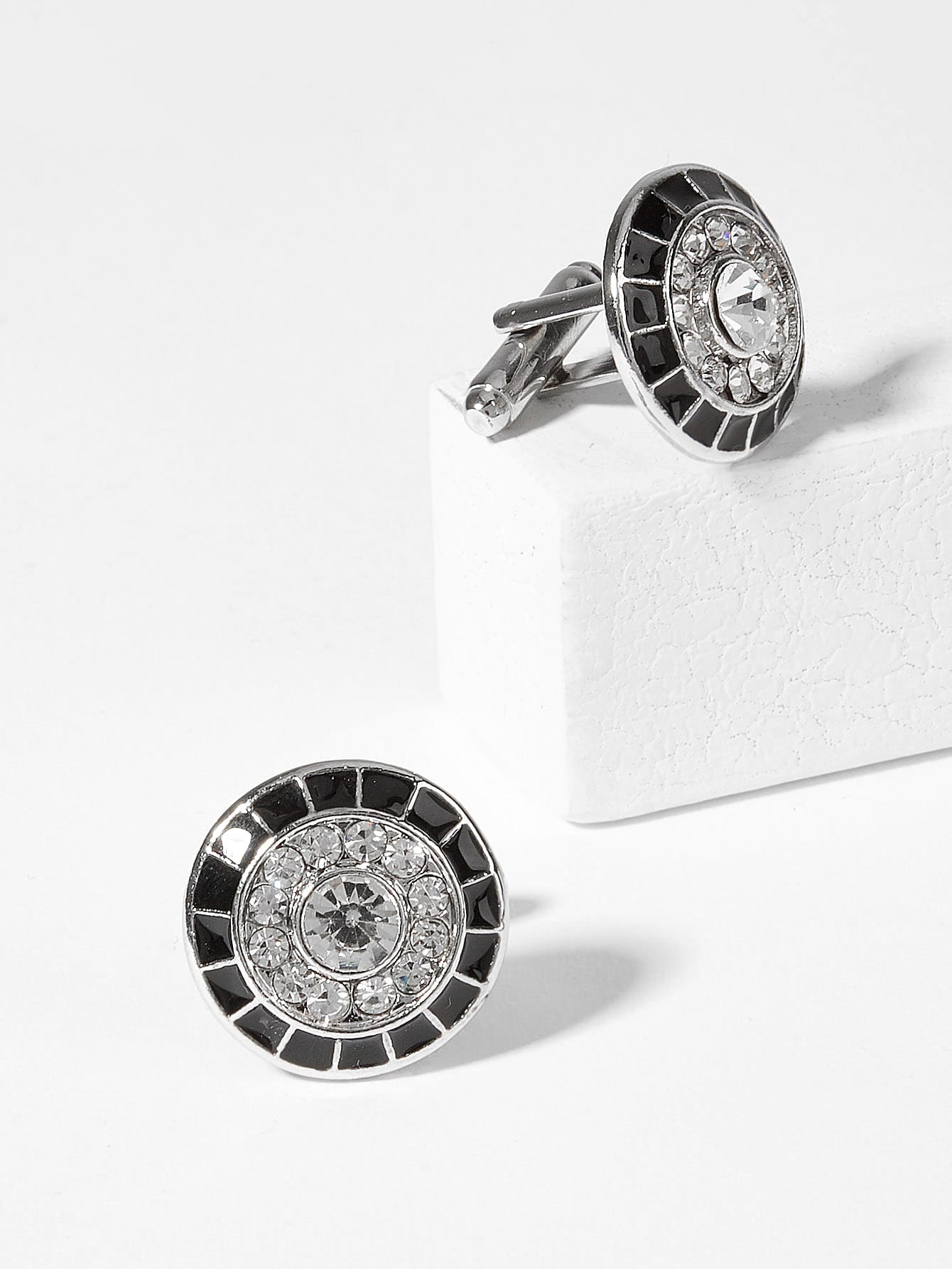 Купить Круглые запонки бриллиантов 1 пара для мужчины, null, SheIn