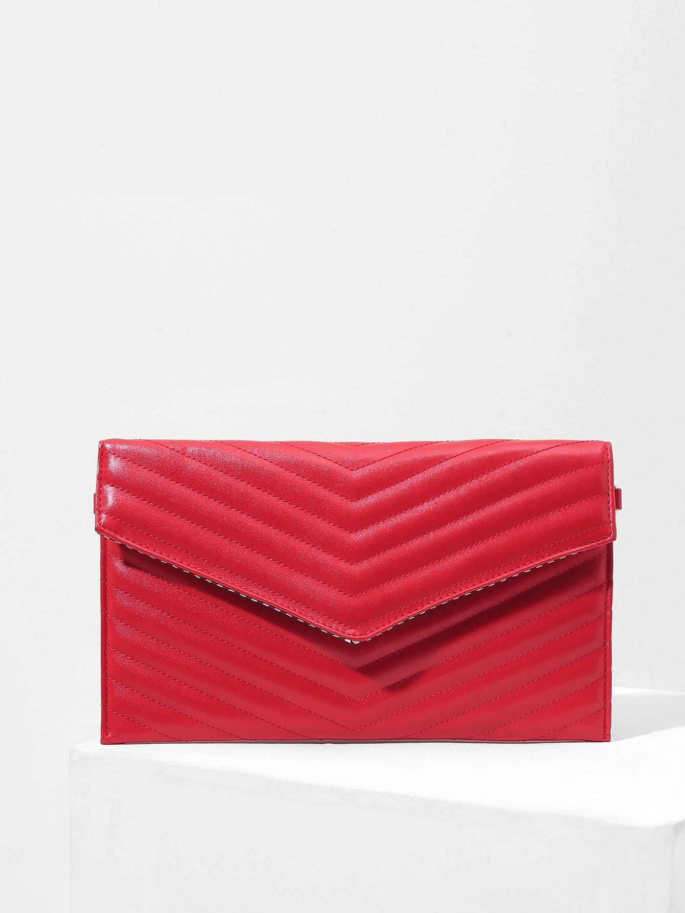 Quilted Flap PU Crossbody Chain Bag
