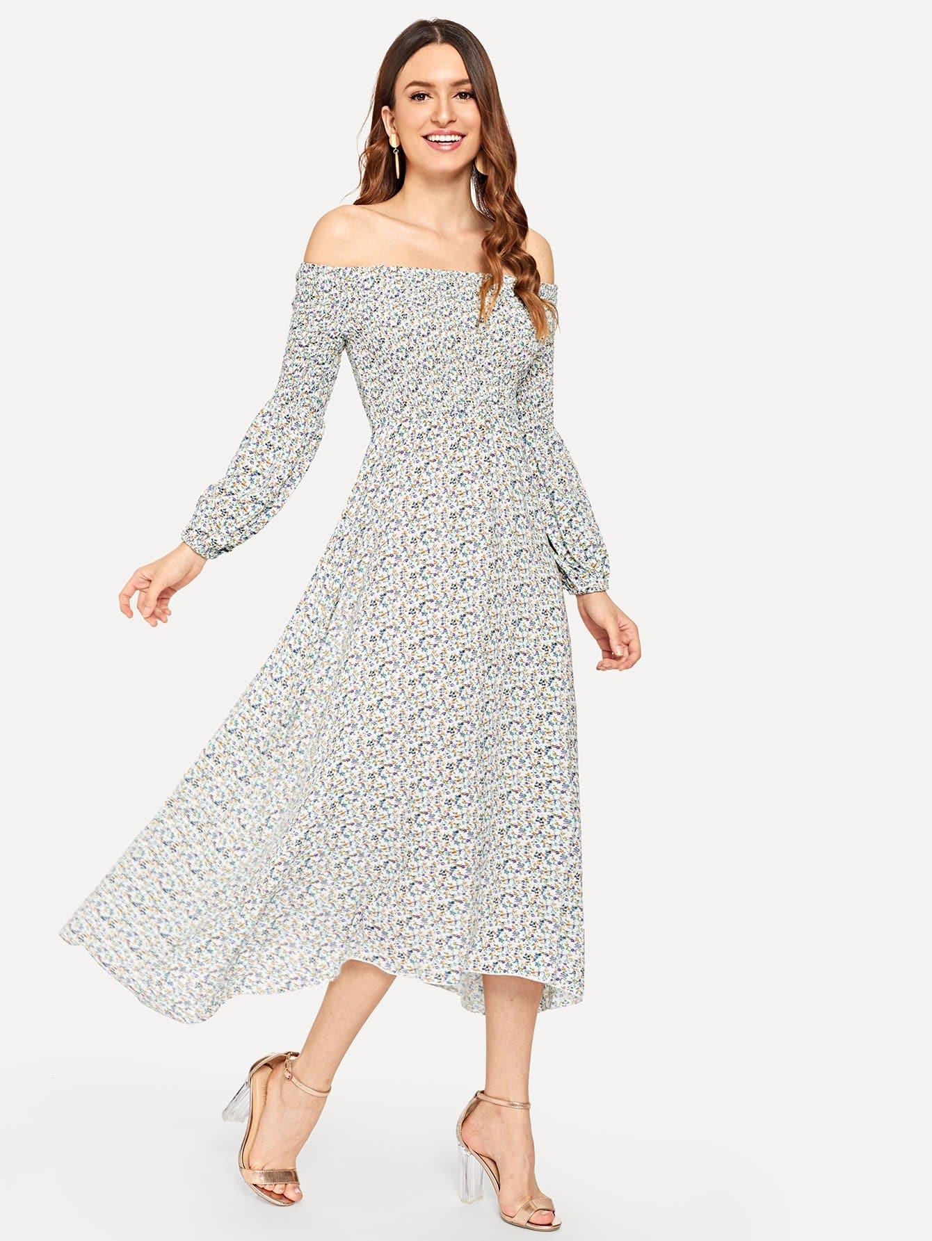 Купить Платье с талией на плечах, Jana, SheIn