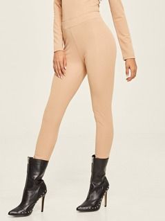 Elastic Waist Peg Leg Pants