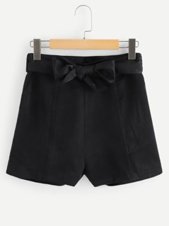 Waist Knot Solid Shorts