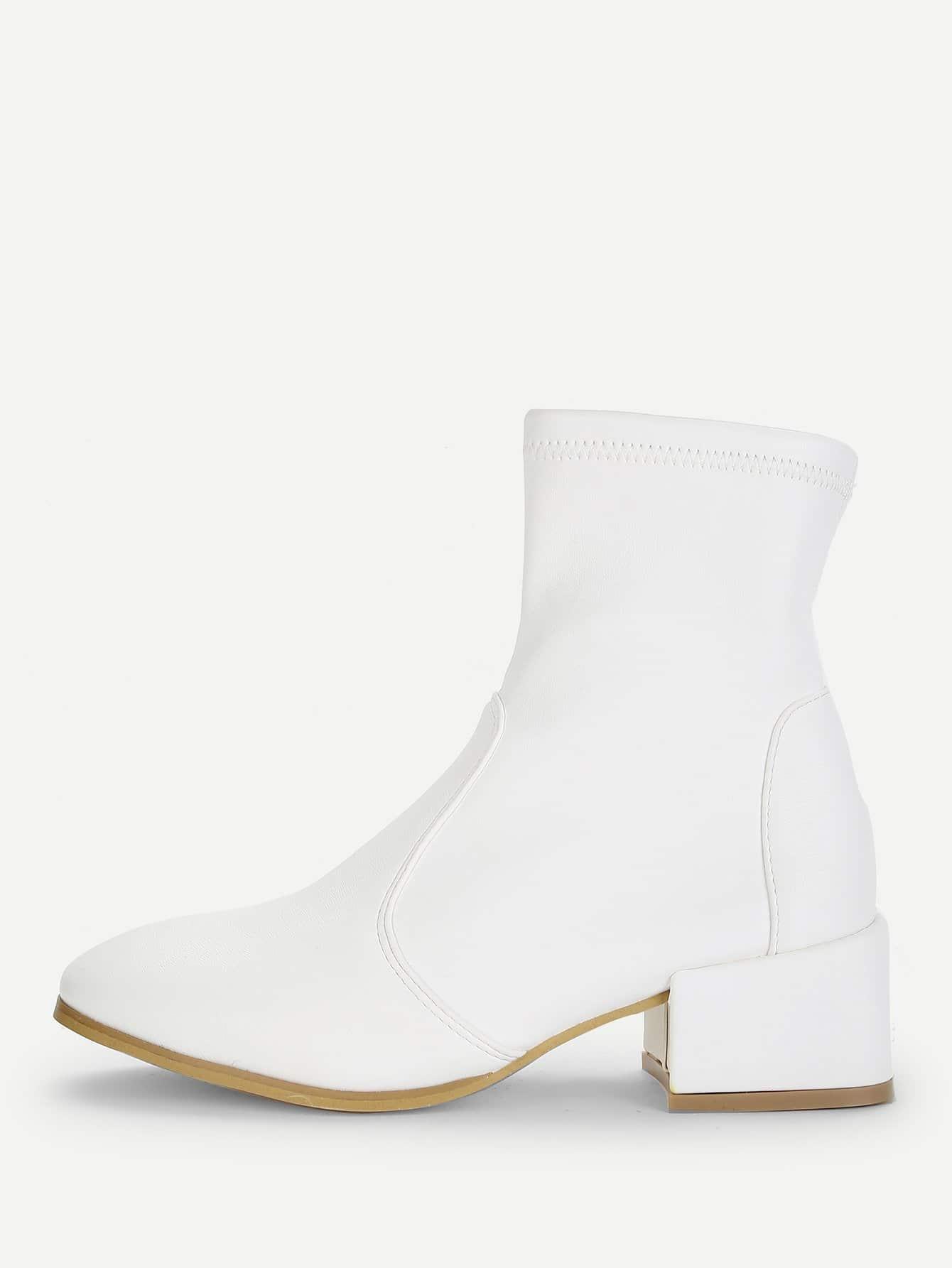 Купить Простые сапоги на высоких кусковых каблуках, null, SheIn