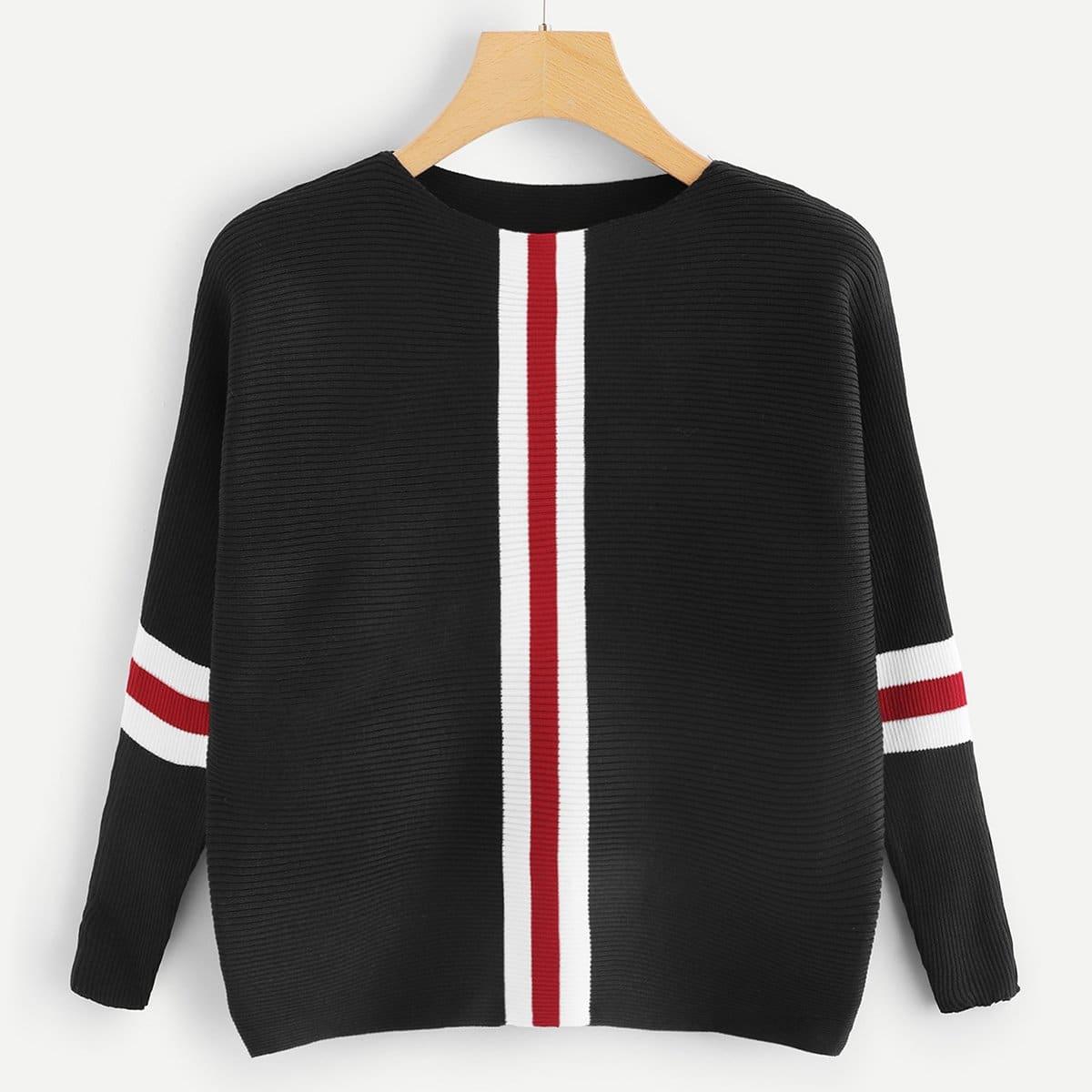 SHEIN / Pullover mit Streifen
