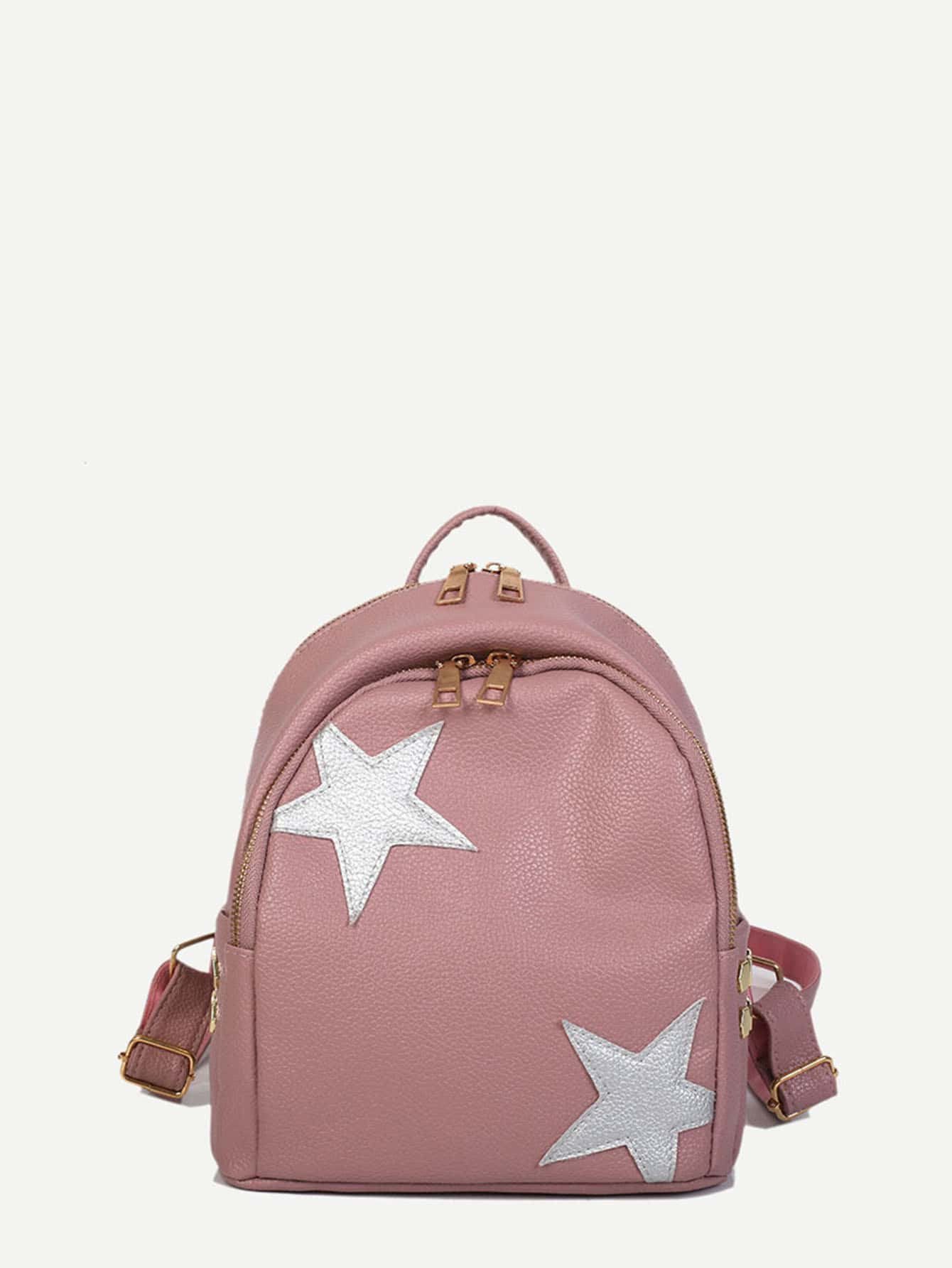 Studded Side Pocket Decor Backpack