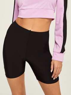 Solid Skinny Cycling Shorts