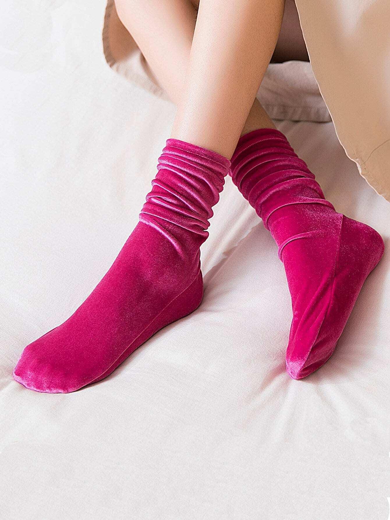 Samt Socken 1Paar