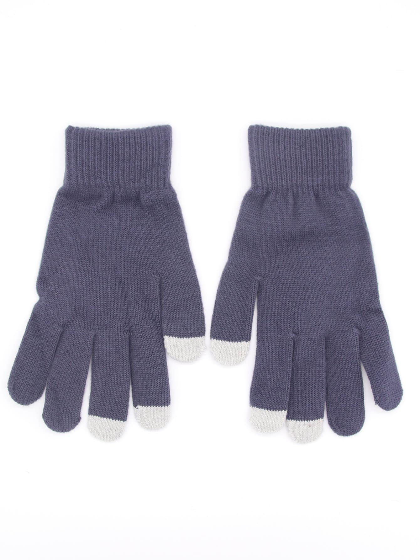 Men Touch Screen Knit Gloves