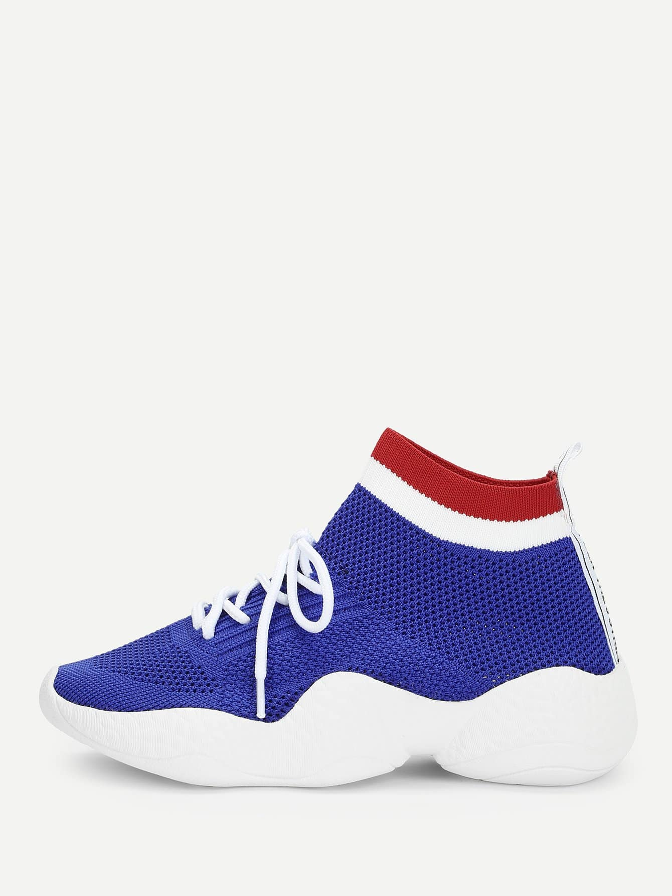 Semelle Chunky Contraste Ourlet Sneakers