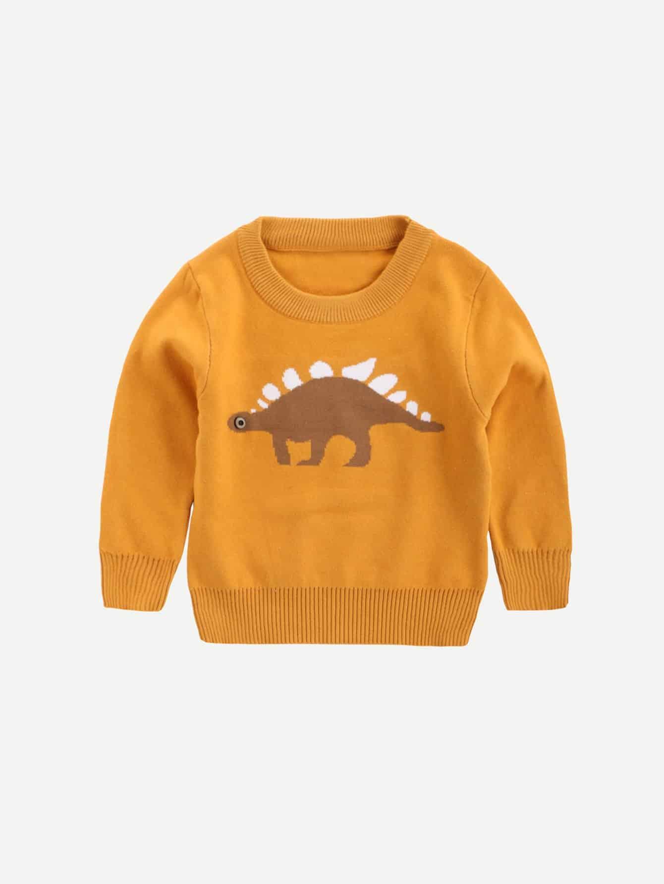 Boys Dinosaur Print Sweater