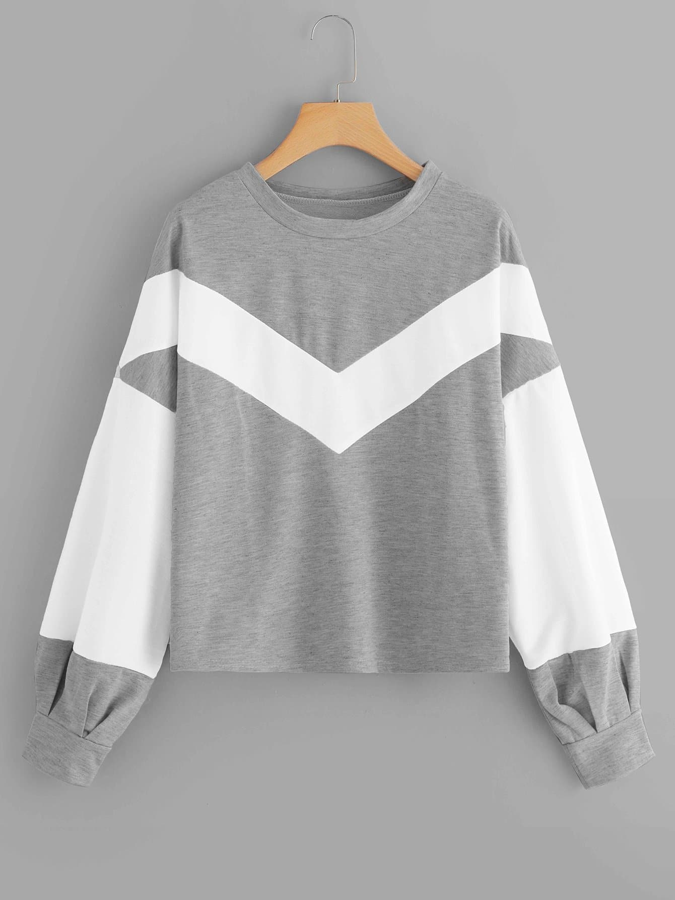 Chevron Colorblock Sweatshirt