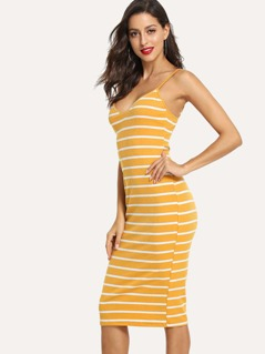 Striped Cami Pencil Dress