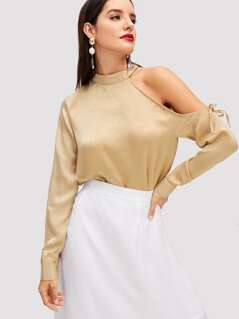 Asymmetric Shoulder Solid Top