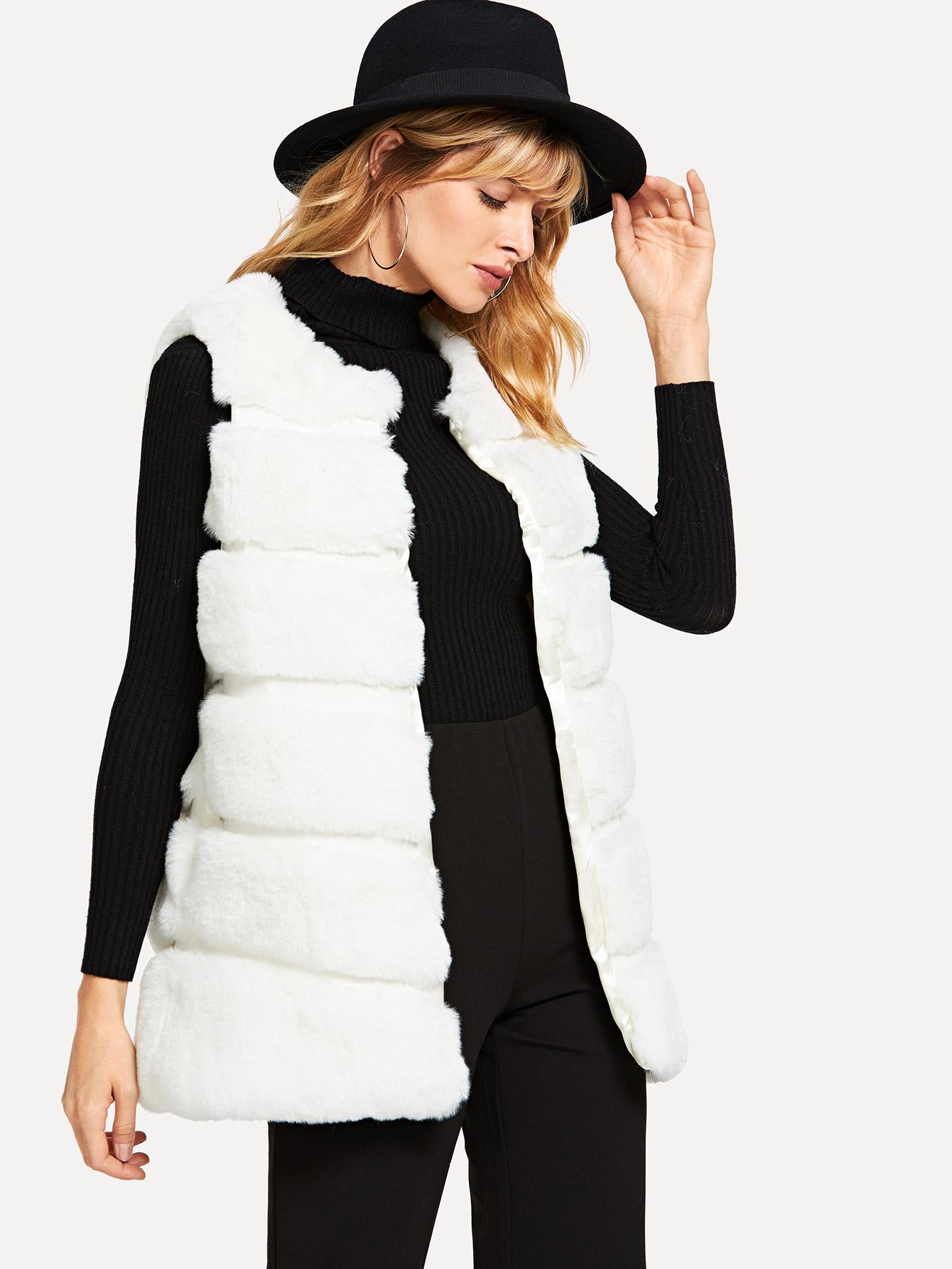 Мягкое пальто из мягкого меха SheIn