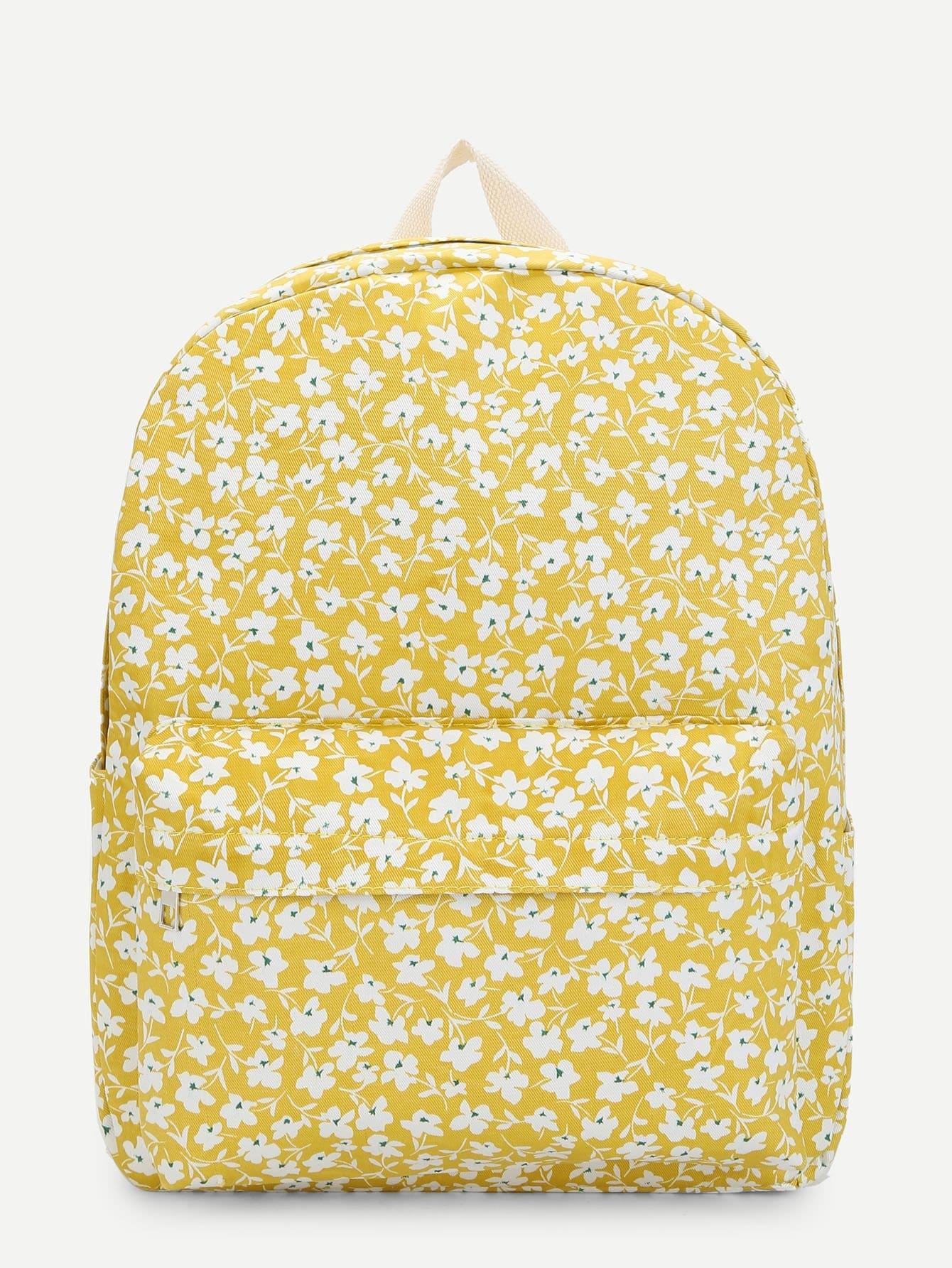 Allover Flower Print Backpack