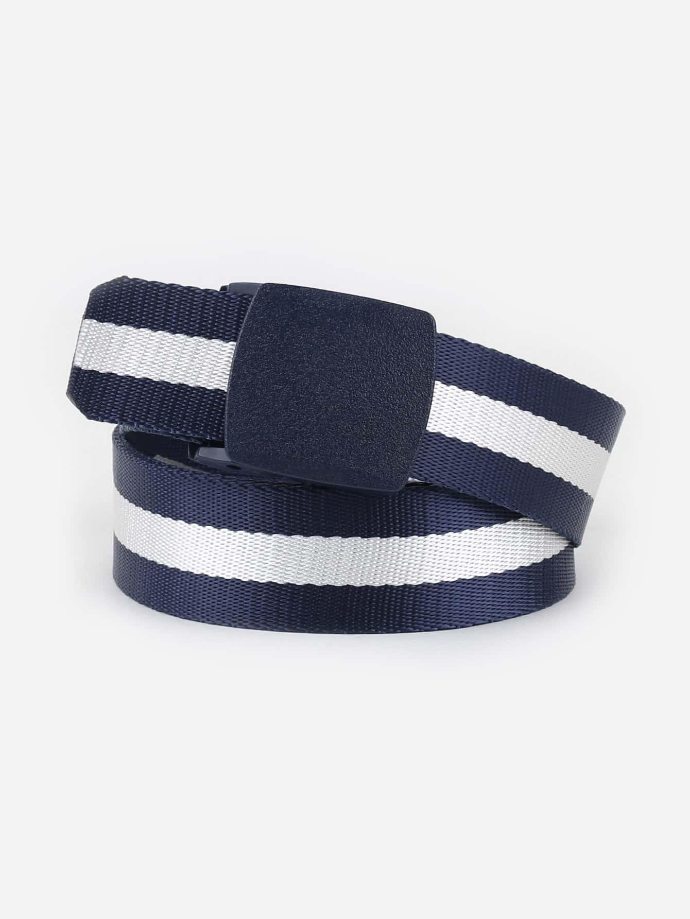 Men Two Tone Woven Belt valio малина злаки