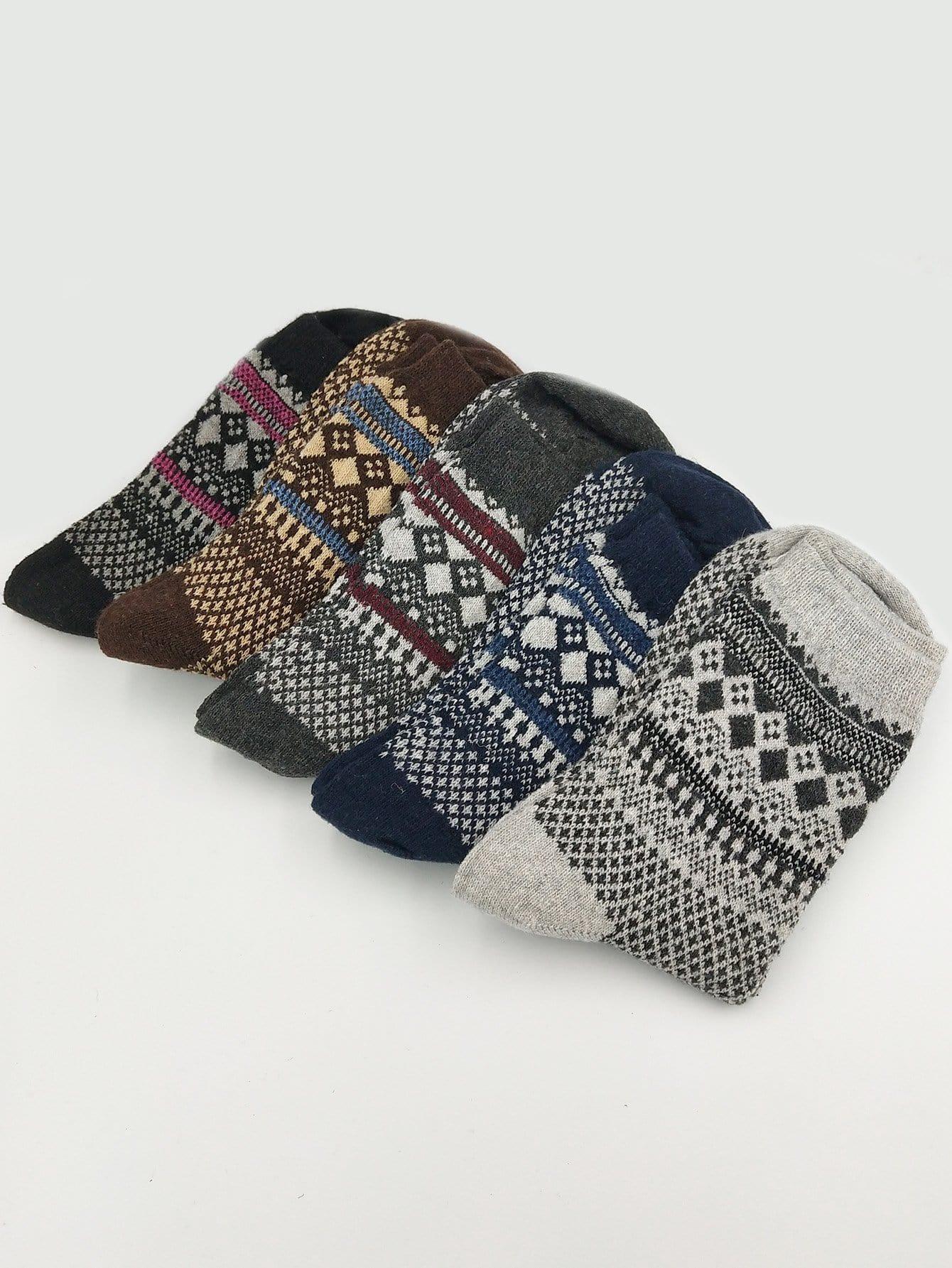 Männer Socken 5Paare mit Muster