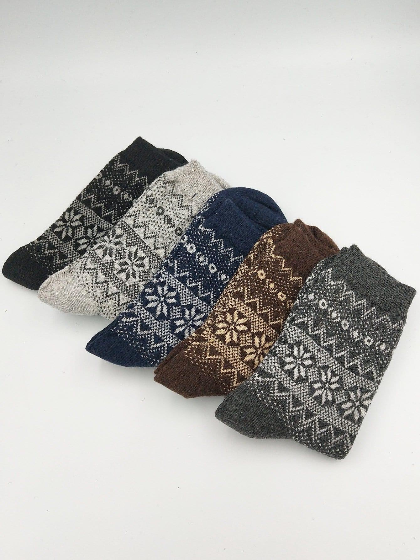 Männer Socken 5Paare mit Chevron Muster