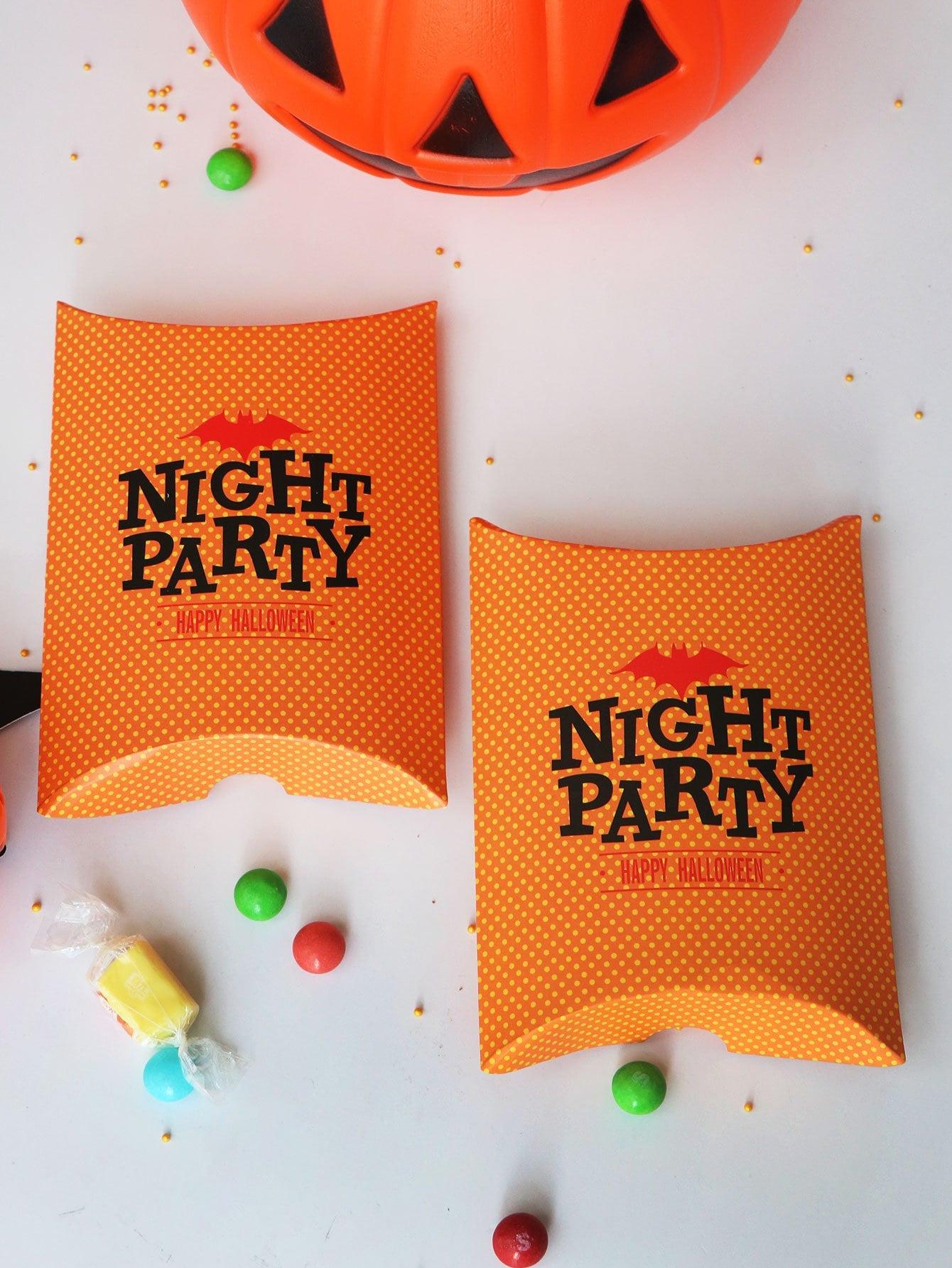Хэллоуин Slogan Print Pillow Box 10pcs
